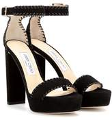 Jimmy Choo Holly 120 platform suede sandals