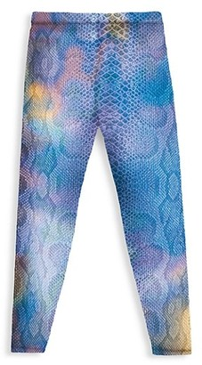 Terez Little Girl's & Girl's Python Print Leggings