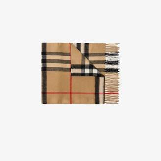 Burberry brown Vintage check cashmere scarf