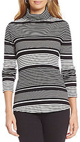 Westbound Rib Turtleneck Striped Top