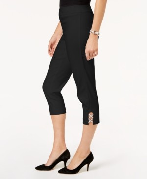 JM Collection Embellished Capri Pants, Created for Macy's