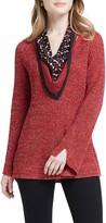 Nic+Zoe Explorer V-Neck Sweater with Scarf