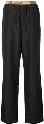 Courreges logo waistband trousers