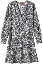 Joe Fresh Women's Print Shirt Dress, Dark Grey (Size M)