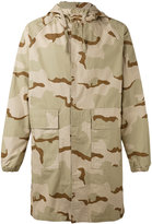 Stussy camouflage print coat - men - Cotton - S