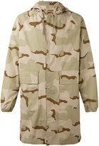 Stussy camouflage print coat