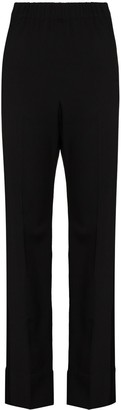 Wales Bonner High-Waist Straight-Leg Trousers