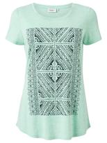 Jeanswest GIANA PLACEMENT PRINT TEE-Bermuda Marle-XS