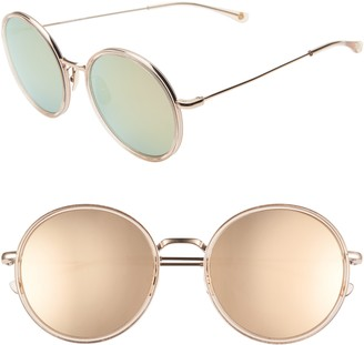 Salt Audrey 56mm Mirrored Polarized Round Sunglasses