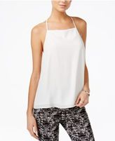 Bar III Lace-Trim Racerback Tank Top, Only at Macy's