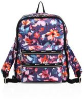 Le Sport Sac Functional Floral-Print Nylon Backpack