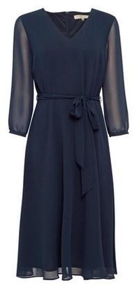Dorothy Perkins Womens Billie & Blossom Navy Chiffon Midi Dress