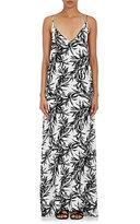 Onia WOMEN'S STELLA PALM-PRINT PLAIN-WEAVE MAXI DRESS