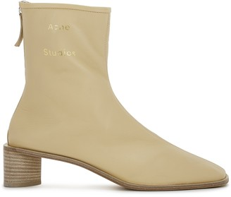 Acne Studios 45 Sand Leather Ankle Boots