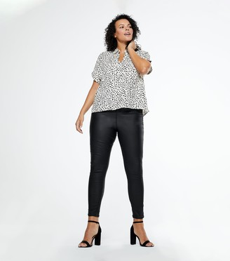 New Look Curves Leather-Look 'Lift & Shape' Jenna Skinny Jeans