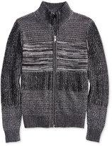 GUESS Men's Marled Full-Zip Sweater