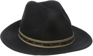 San Diego Hat Company San Diego Hat Co. Men's Fedora Hat with Faux Leather Band