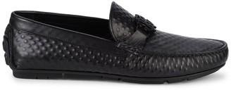 Roberto Cavalli Textured Leather Loafers