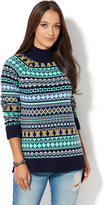 New York & Co. All-Over Fair Isle Sweater