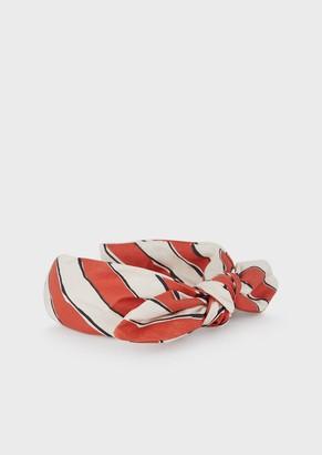 Emporio Armani Printed Fabric Headband