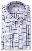 Roundtree & Yorke Gold Label Big & Tall Non-Iron Regular Full-Fit Plaid Button-Down Collar Dress Shirt