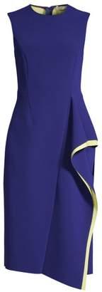 Jason Wu Collection Compact Crepe Sleeveless Ruffle Dress