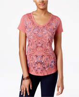 Style&Co. Style & Co Petite Paisley-Print T-Shirt, Only at Macy's