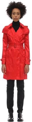 Burberry Kensington Hooded Nylon Trench Coat
