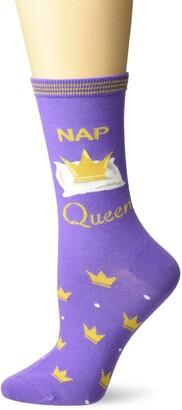 K. Bell Socks K. Bell Women's Fun with Words Novelty Saying Crew Socks