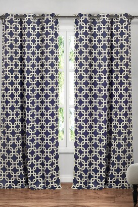 Duck River Textile Kristin Blackout Grommet Curtain - Set of 2 - Navy