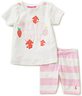 Joules Baby Girls Newborn-12 Months Paula Berry Lovely Top & Striped Leggings Set