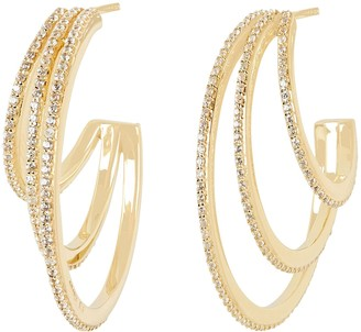 ela rae Pave Crystal Hoop Earrings