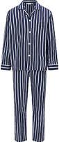 Derek Rose Stripe Cotton Pyjamas, Blue
