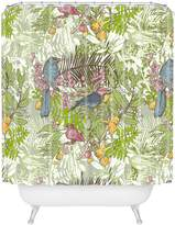 DENY Designs Geronimo Studio Colored Birds Shower Curtain, 69-Inch by 72-Inch