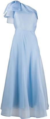 MSGM One Shoulder Asymmetric Dress