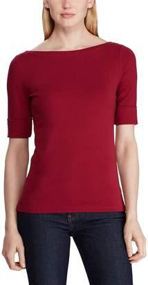 Lauren Ralph Lauren Boat-Neck T-Shirt with Short Sleeves
