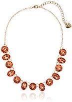 "Betsey Johnson Marie Antoinette Faceted Stone Necklace, 15.5"" + 3"" Extender"