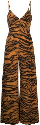 Norma Kamali Tiger Print Jumpsuit