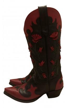 Jessie Western Multicolour Leather Boots