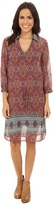Stetson Medallion Print Chiffon Dress