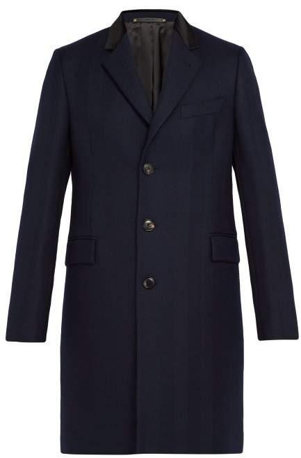 Paul Smith Wool Herringbone Overcoat - Mens - Navy