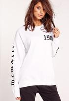 Missguided 1986 LA Sweatshirt White