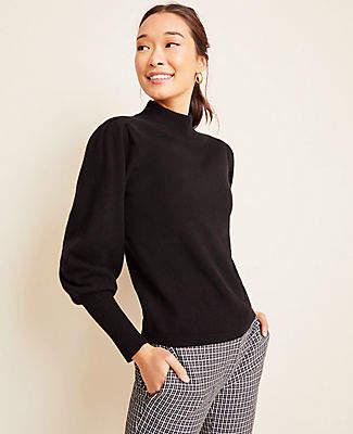 Ann Taylor Cashmere Balloon Sleeve Sweater