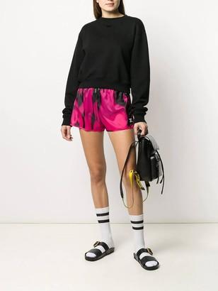 Off-White Pink Tie-dye Shorts