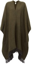 Brunello Cucinelli Fringed Shawl - Womens - Dark Green