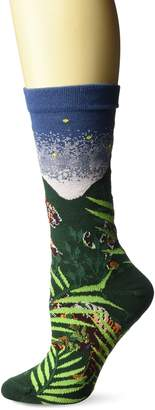 Ozone Women's Endangered Cats Tiger Sock