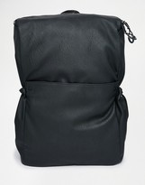 Asos Backpack With Drawstring Pockets