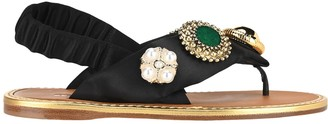 Miu Miu Jewelled Thong Sandals
