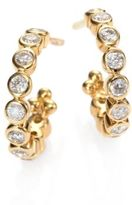 Temple St. Clair Classic Eternity Diamond & 18K Yellow Gold Hoop Earrings/0.4