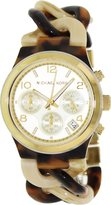 Michael Kors Women's Runway MK4270 Brown Plastic Quartz Watch with Dial